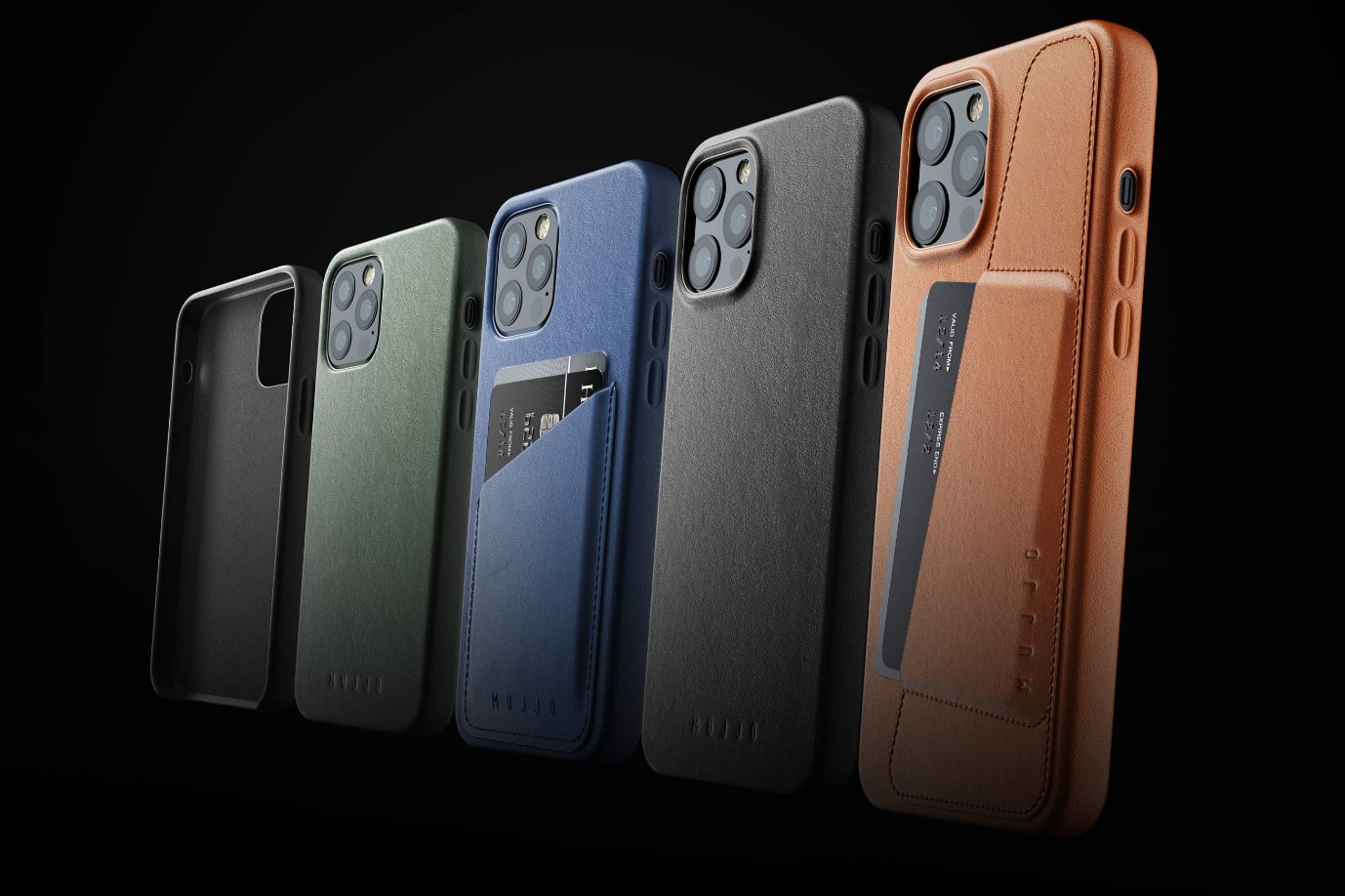 MUJJO Full Leather Case pro iPhone 12 / 12 Pro