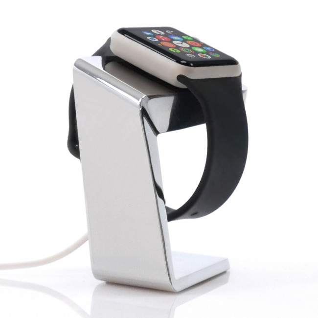 Oockzy AWDock stainless steel edition - dokovacia stanica pre Apple Watch