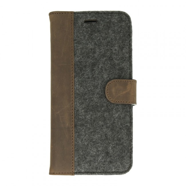 Valenta Booklet Raw púzdro pre iPhone 6/6S Plus Vintage Brown