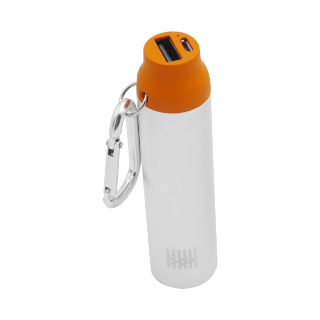 BOX Products powerbanka 2000 mAh Carabiner Pocket Charger - oranžová