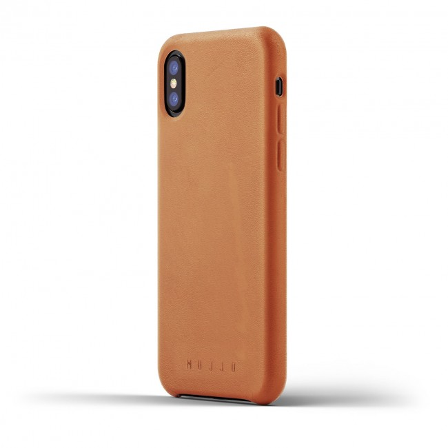MUJJO Full Leather Case pre iPhone X a XS - púzdro žltohnedé