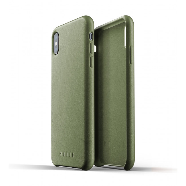 MUJJO Full Leather Case pre iPhone XS Max - olivový