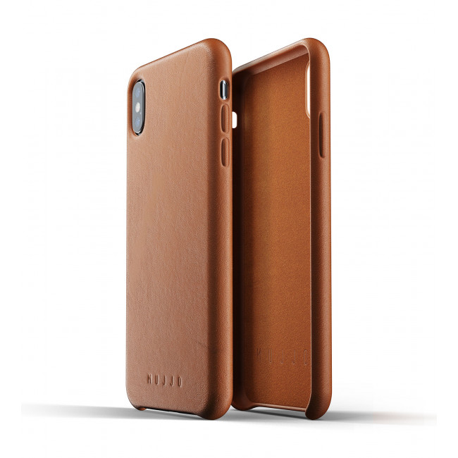 MUJJO Full Leather Case pre iPhone XS Max - žltohnedý
