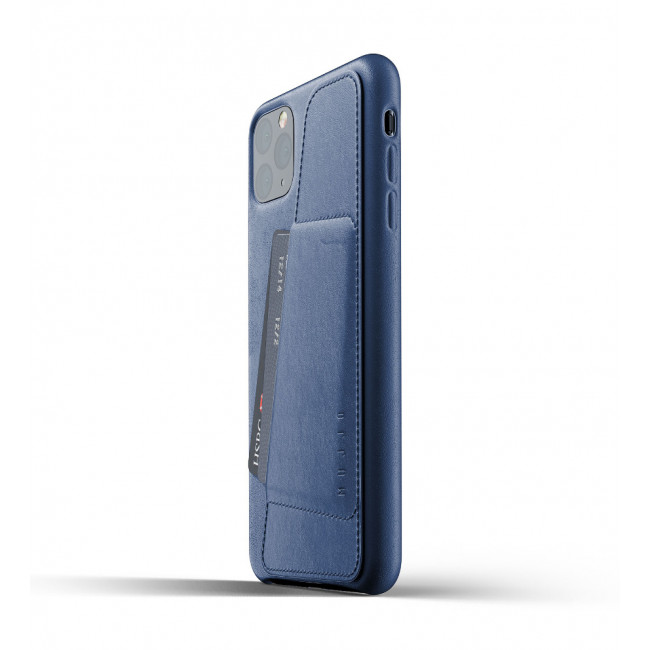 MUJJO Full Leather Wallet Case pre iPhone 11 Pro MAX - púzdro modré
