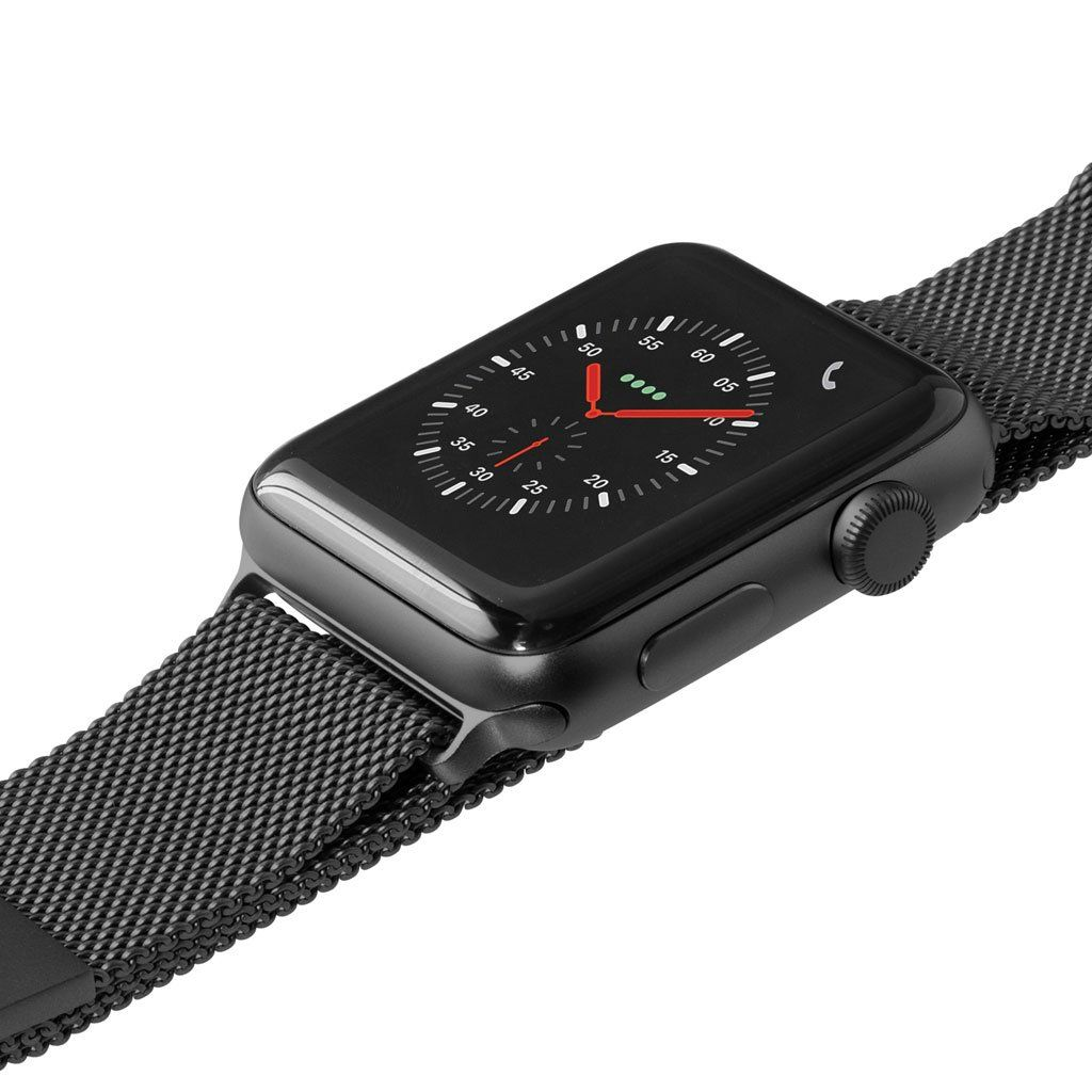 Laut Steel Loop - remienok na Apple Watch 42/44 mm, milánsky ťah - tmavošedý