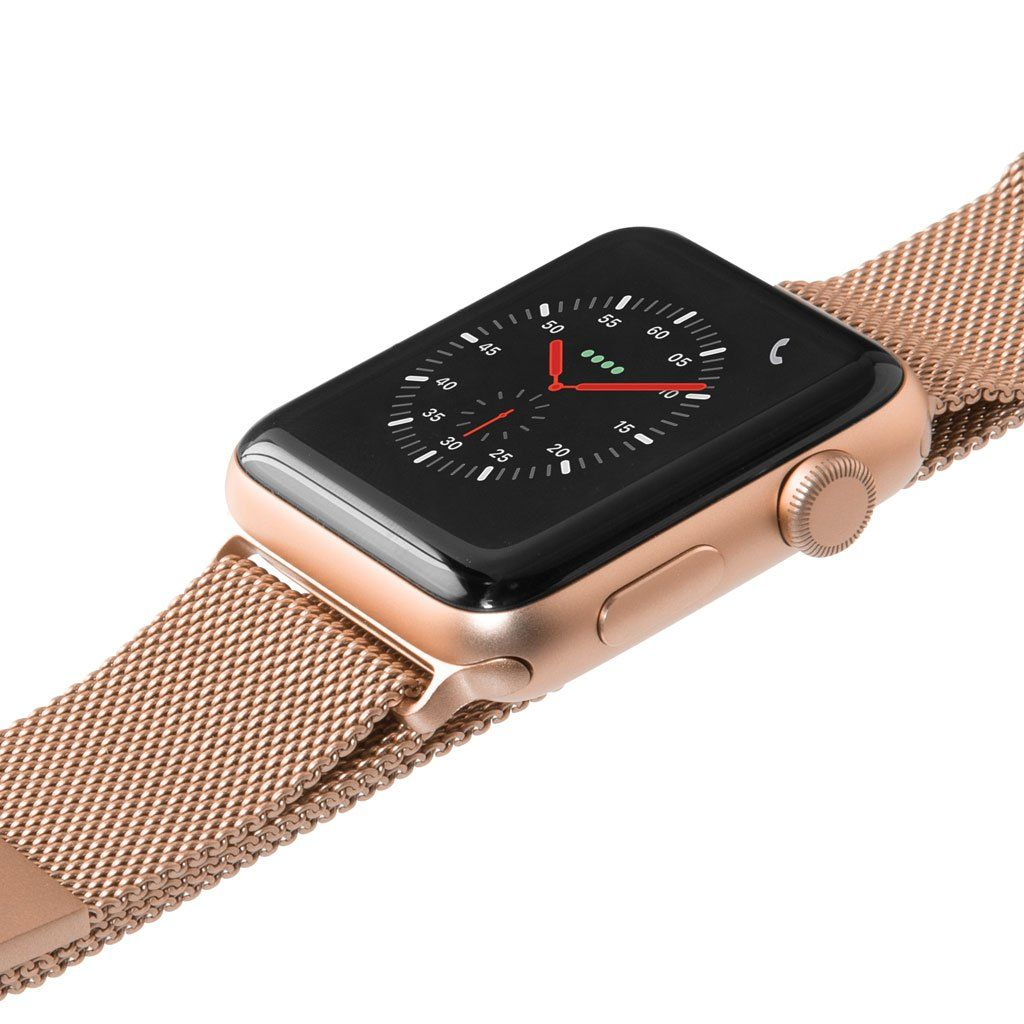 Laut Steel Loop - remienok na Apple Watch 42/44 mm, milánsky ťah - zlatý