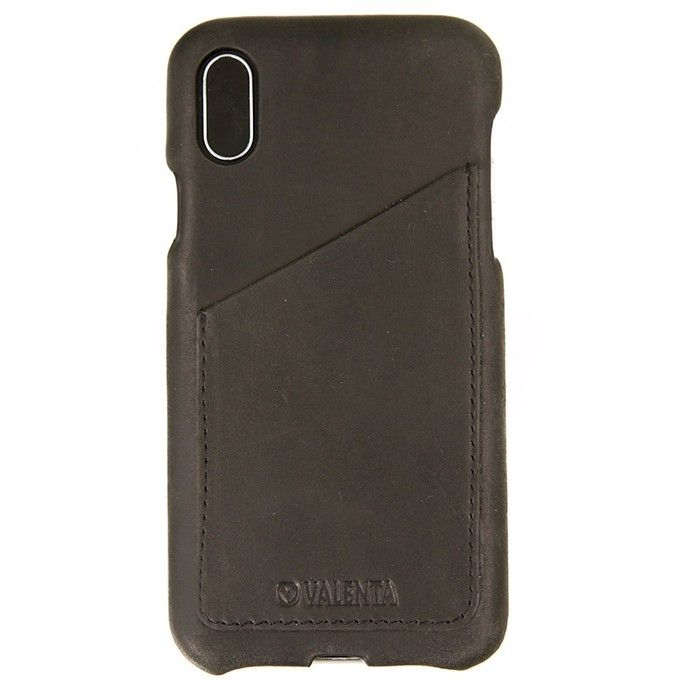 Valenta Back Cover Classic Luxe pre iPhone X, Vintage Black