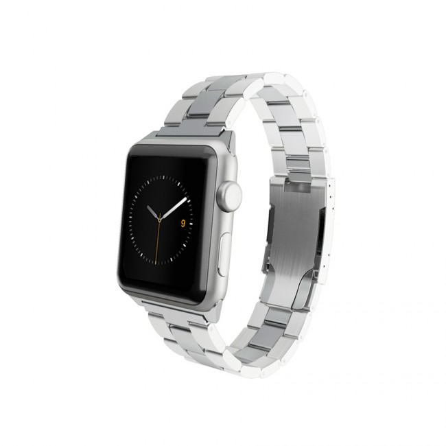 Monowear Silver Metal Band pre Apple Watch - Stainless Steel 42 mm
