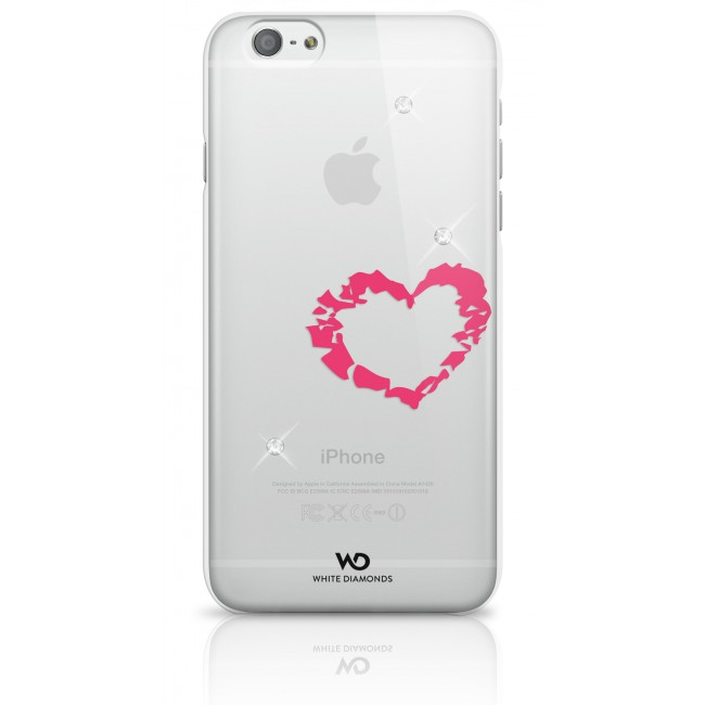 White Diamonds Lipstick Heart púzdro pre iPhone 6/6S