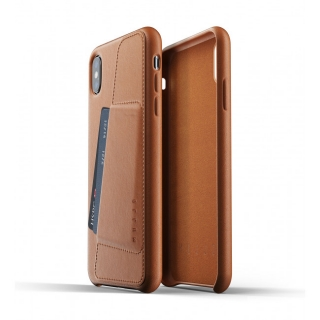 MUJJO Full Leather Wallet Case pre iPhone XS Max - žltohnedý