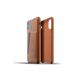 MUJJO Full Leather Wallet Case pre iPhone 11 - púzdro žltohnedé