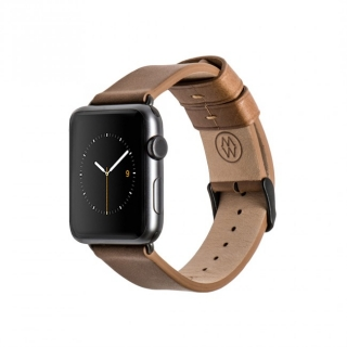Monowear Brown Leather Band pre Apple Watch - Space Gray 42 mm