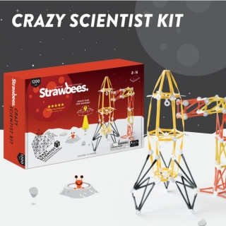 Strawbees Crazy Scientists Kit - sada Geniálny vedec